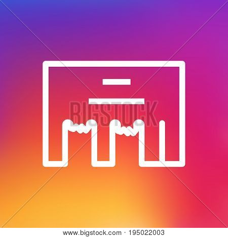 Isolated Inbox Outline Symbol On Clean Background. Vector Direct Message Element In Trendy Style.