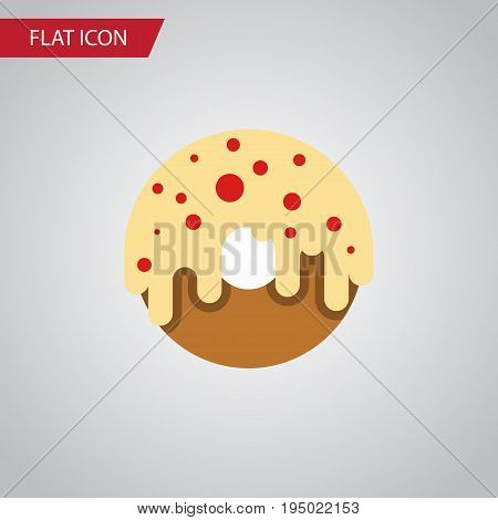 Isolated Donuts Flat Icon. Doughnut Vector Element Can Be Used For Donuts, Doughnut, Dessert Design Concept.