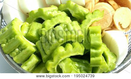 Gourd Ginger Chinese radish are raw herb for cooking chicken soup Thai food by me Photo close up at Gourd.