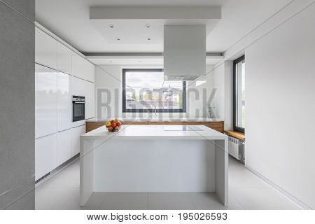 Beautiful, White Kitchen