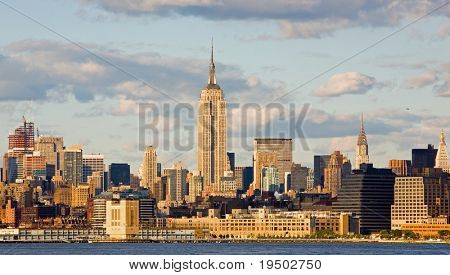 The Empire State Building and New York City Skyline