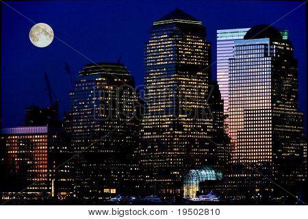 Нижний Манхэттен ночью