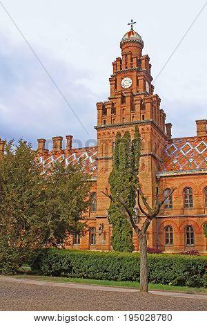 Residence of Bukovinian and Dalmatian Metropolitans now part of Chernivtsi University. Yuriy Fedkovych Chernivtsi National University. Chernovtsi, Europe