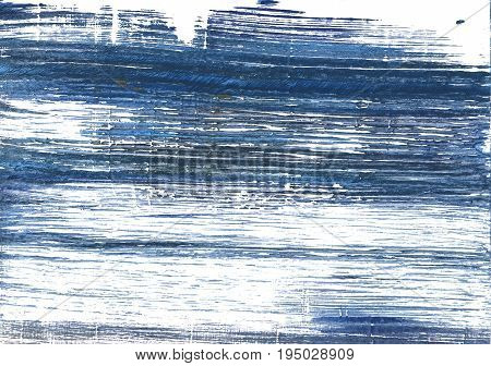 Hand-drawn abstract watercolor background. Used colors: White Metallic blue Indigo UCLA Blue Blue yonder Alice blue Ceil Japanese indigo Shadow blue Loeen look