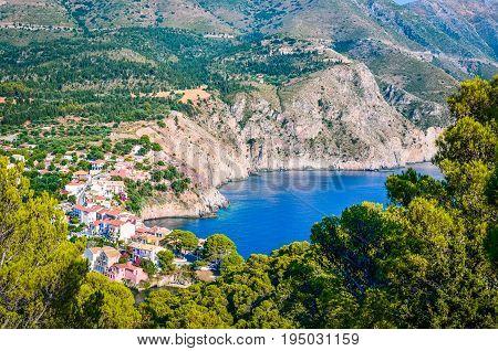 Assos Village at Kefalonia island in Greece.