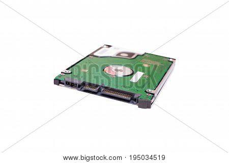 2.5 inch laptop sata hard drive isolated on white background