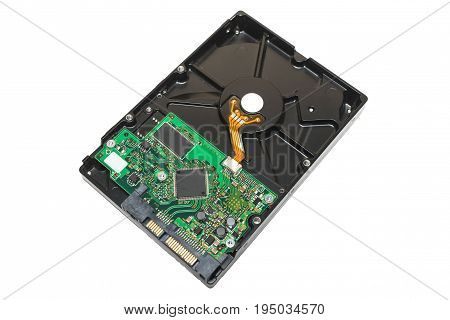 3.5 inch desktop sata hard drive isolated on white background