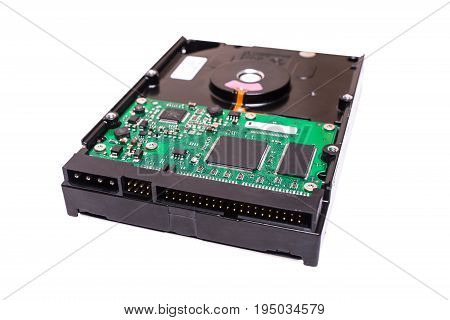 3.5 inch desktop ide hard drive isolated on white background