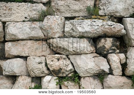 Ancient Greek Stone Wall Background