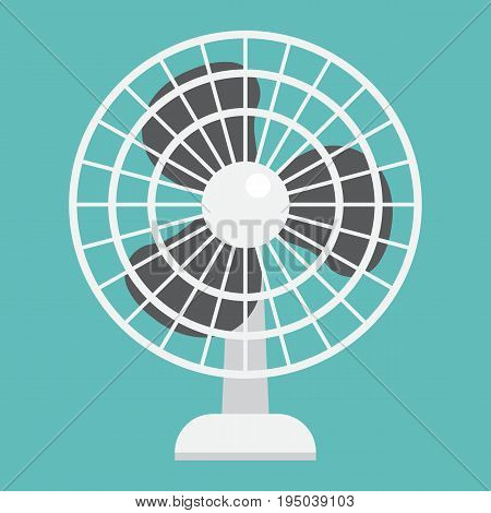 Table Fan flat icon, household and appliance, vector graphics, a colorful solid pattern on a white background, eps 10.
