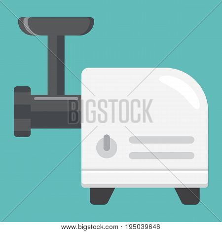 Meat Grinder flat icon, household and appliance, vector graphics, a colorful solid pattern on a white background, eps 10.