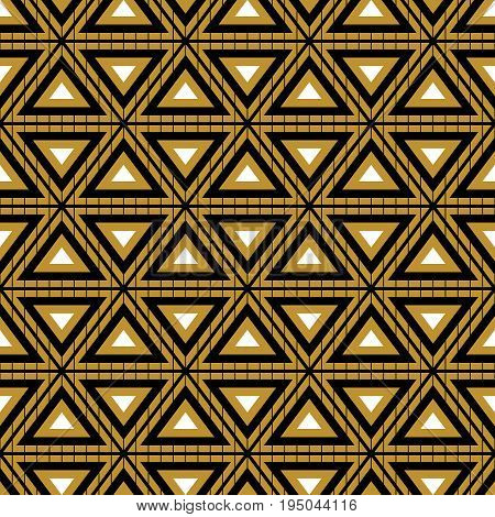 Abstract seamless pattern in the style of grunge. Bright colors. A geometric lattice. The illusion of movement forms.