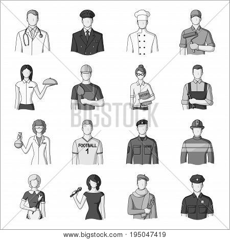 Camcorder, handcuffs, lattice attributes of the prison.Prison set collection icons in monochrome style vector symbol stock illustration .