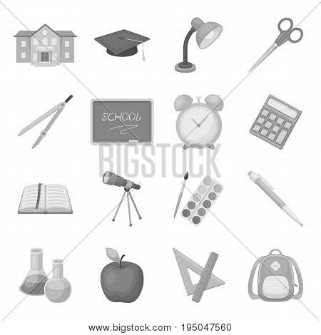 Wool, silk, polyester kinds of material for scarves and shawls.Scarves And Shawls set collection icons in monochrome style vector symbol stock illustration .
