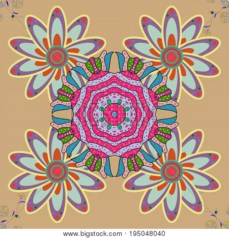 The elegant the template for fashion prints. Motley illustration. Summer floral background with flowers. Seamless. Vector cute pattern in small flower. Small colorful flowers.