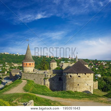 Picturesque view on the Castle in Kamyanets-Podilsky, Ukraine