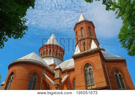 Armenian church in Chernivtsy Ukraine. Armenian church is very popular among tourists.