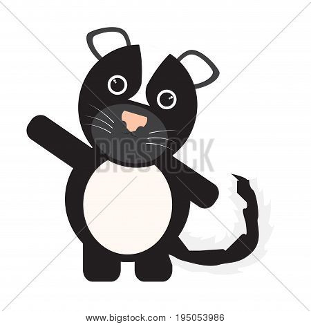 Isolated cute skunk on a white background, Vector illustration