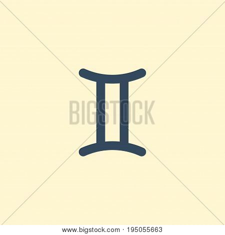 Flat Icon Gemini Element. Vector Illustration Of Flat Icon Twins Isolated On Clean Background. Can Be Used As Gemini, Twins And Zodiac Symbols.