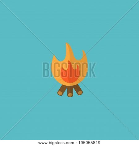 Flat Icon Bonfire Element. Vector Illustration Of Flat Icon Fire Isolated On Clean Background. Can Be Used As Bonfire, Fire And Balefire Symbols.