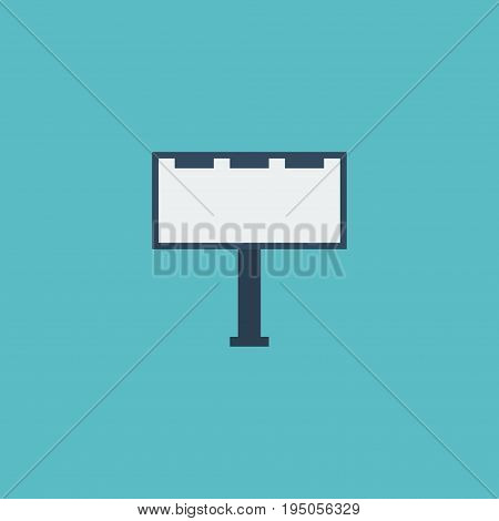 Flat Icon Billboard Element. Vector Illustration Of Flat Icon Placard Isolated On Clean Background. Can Be Used As Placard, Billboard And Banner Symbols.