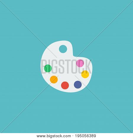 Flat Icon Palette Element. Vector Illustration Of Flat Icon Artist Isolated On Clean Background. Can Be Used As Artist, Palette And Color Symbols.