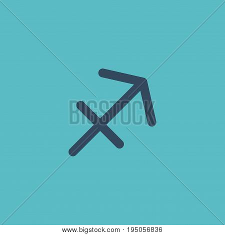 Flat Icon Sagittarius Element. Vector Illustration Of Flat Icon Archer Isolated On Clean Background. Can Be Used As Sagittarius, Archer And Arrow Symbols.