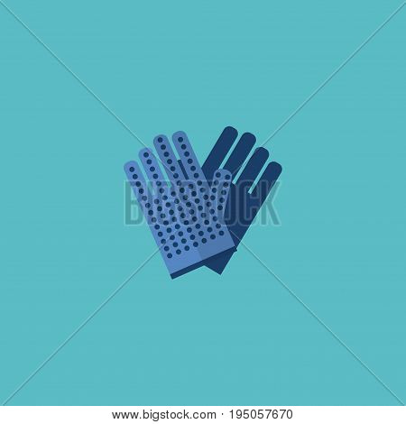 Flat Icon Work Gloves Element. Vector Illustration Of Flat Icon Mitten Isolated On Clean Background. Can Be Used As Work, Gloves And Mitten Symbols.
