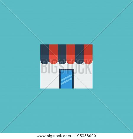 Flat Icon Store Element. Vector Illustration Of Flat Icon Shop  Isolated On Clean Background. Can Be Used As Store, Shop And Magazine Symbols.