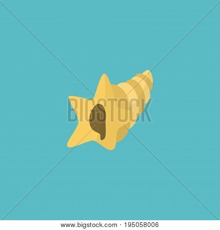 Flat Icon Sink Element. Vector Illustration Of Flat Icon Shell  Isolated On Clean Background. Can Be Used As Shell, Sink And Conch Symbols.