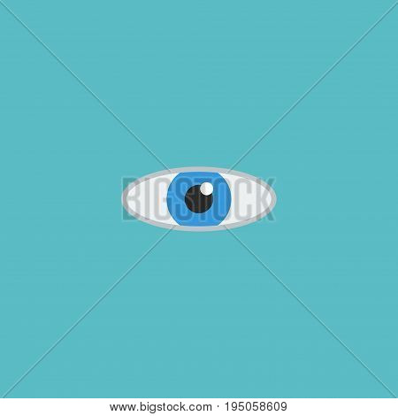 Flat Icon Eye Element. Vector Illustration Of Flat Icon Vision  Isolated On Clean Background. Can Be Used As Vision, Eye And Look Symbols.
