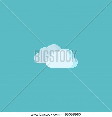 Flat Icon Cloud Element. Vector Illustration Of Flat Icon Sky Isolated On Clean Background. Can Be Used As Clouds, Sky And Overcast Symbols.