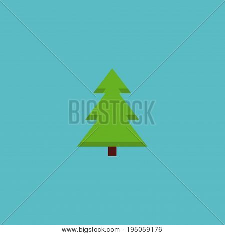 Flat Icon Spruce Element. Vector Illustration Of Flat Icon Tree Isolated On Clean Background. Can Be Used As Spruce, Tree And Nature Symbols.