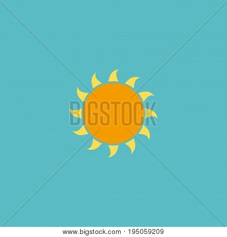 Flat Icon Sun Element. Vector Illustration Of Flat Icon Sunshine Isolated On Clean Background. Can Be Used As Sun, Sunshine And Sunny Symbols.
