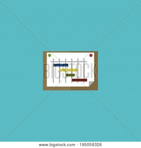 Flat Icon Planning Element. Vector Illustration Of Flat Icon Schedule  Isolated On Clean Background. Can Be Used As Schedule, Graph And Scheme Symbols.
