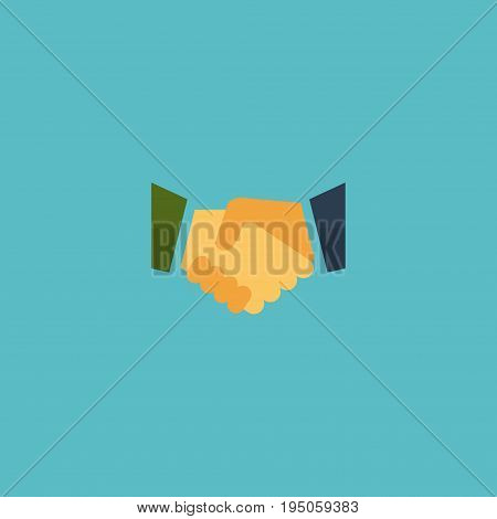 Flat Icon Partnership Element. Vector Illustration Of Flat Icon Agreement   Isolated On Clean Background. Can Be Used As Partnership, Relatives And Meeting Symbols.