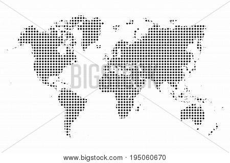 World map. World map dots. Pop art style background. Vector