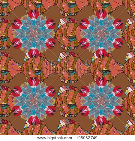 For Merry Christmas Happy New Year products. Seamless pattern with vector on a colorful background. For wrap sketchs backgrounds and scrapbooks.