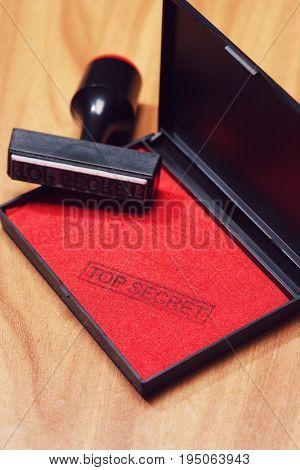 Top Secret Rubber Stamp