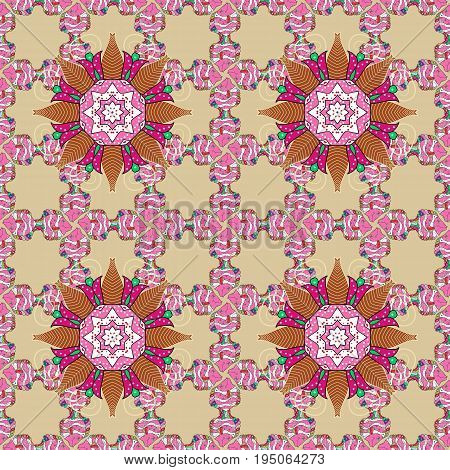 Small colorful flowers. Spring floral background with flowers. Motley illustration. Vector cute pattern in small flower. The elegant the template for fashion prints.