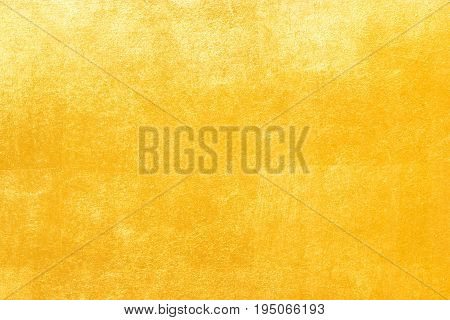 Shiny Yellow Leaf Gold Foil Texture