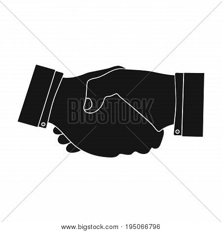Handshake. E-commerce single icon in black style vector symbol stock illustration .
