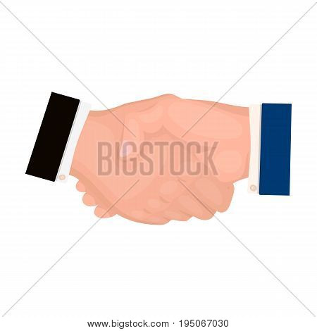 Handshake. E-commerce single icon in cartoon style vector symbol stock illustration .
