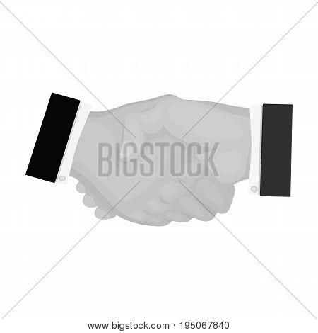 Handshake. E-commerce single icon in monochrome style vector symbol stock illustration .