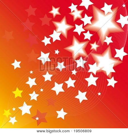 Star abstract background VECTOR (See Jpeg Also In My Portfolio)