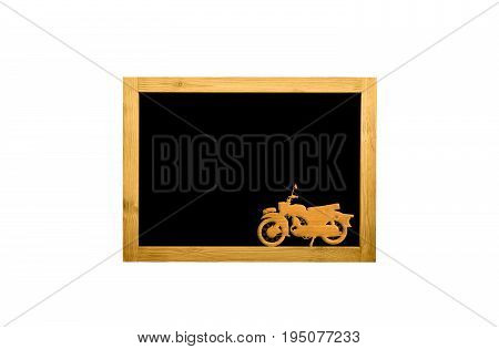 Wooden frame blank isolated with copy space for text and decorative image.