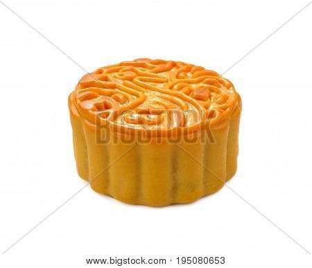 Moon cakes for the chinese Mid-Autumn festival isolated on white background