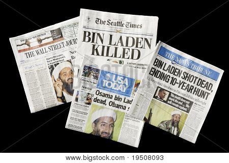 Newspapers, Osama Bin Laden Dead, Editorial