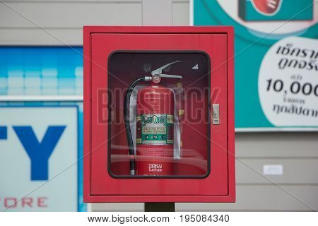 Fire Extinguisher Of Tesco Lotus Hyper Market