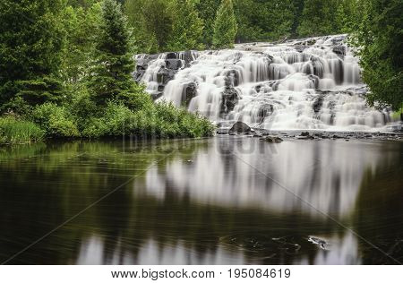 Bond Falls in Upper Peninsula, Michigan. Long exposure